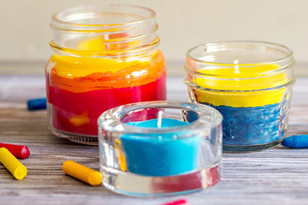 آموزش گام به گام ساخت شمع های رنگی