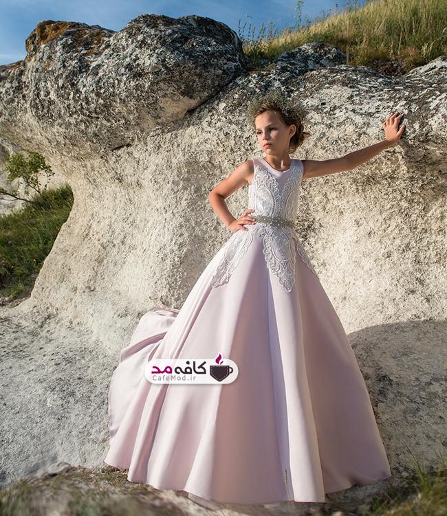 مدل لباس مجلسی توری دخترانه 2018
