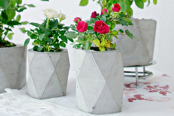 آموزش ساخت گلدان با پور بتن و کاغذ
