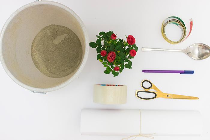 آموزش ساخت گلدان با پور بتن و مقوا