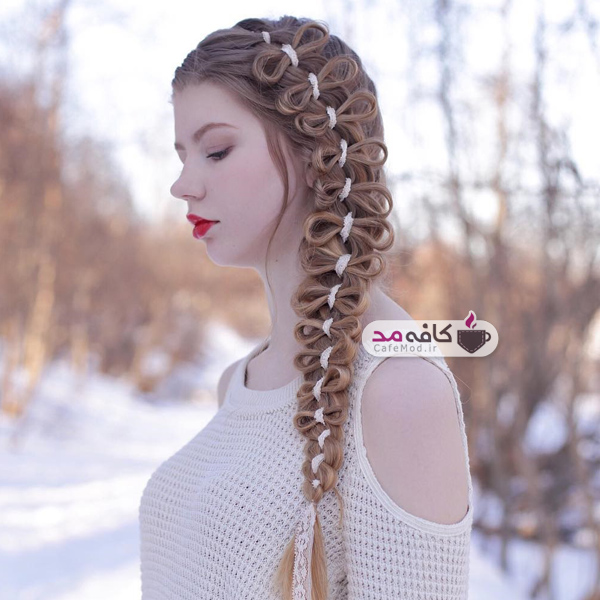 بافت های زیبای مو