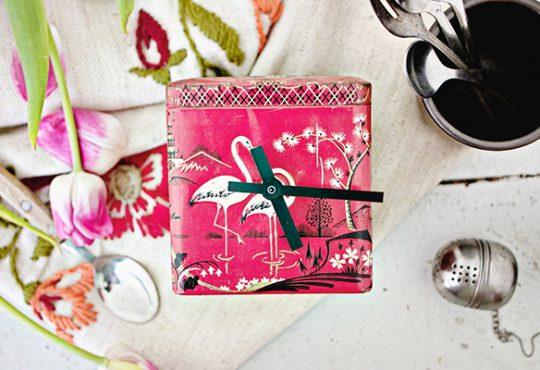 آموزش ساخت ساعت با قوطی چای