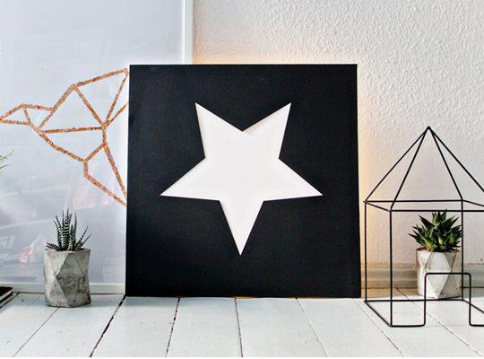 آموزش ساخت تابلوی چراغی ستاره