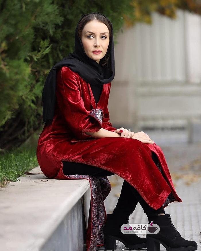 مدل شدن حدیث فولادوند برای یک مزون لباس