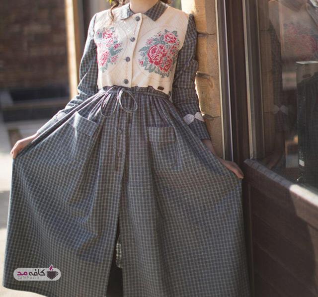 مدل لباس زنانه مربع