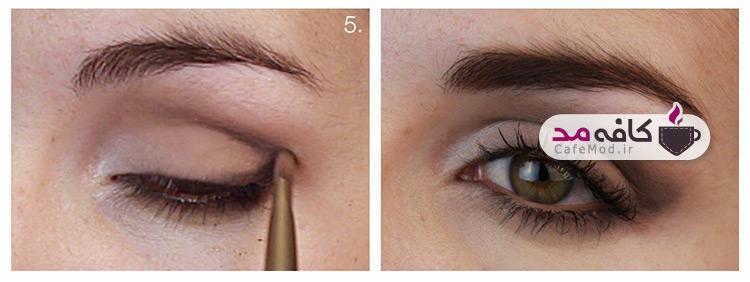 آموزش آرایش چشم قهوه ای ملایم