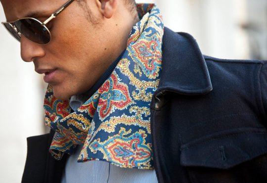 دستمال گردن در استایل مردانه