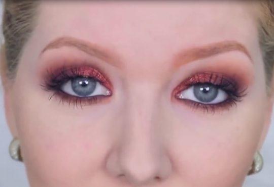 فیلم آموزش آرایش چشم با رنگ های قهوه ای