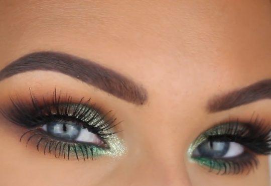 فیلم آموزش آرایش چشم سبز تابستانه