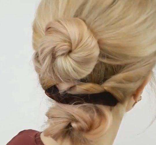 آموزش بافت موی دوقلو از پشت
