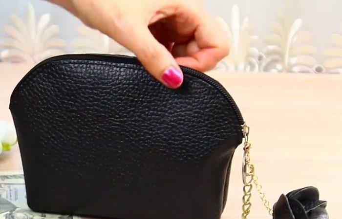فیلم آموزش کیف پول دستی با جاکلیدی گل رز