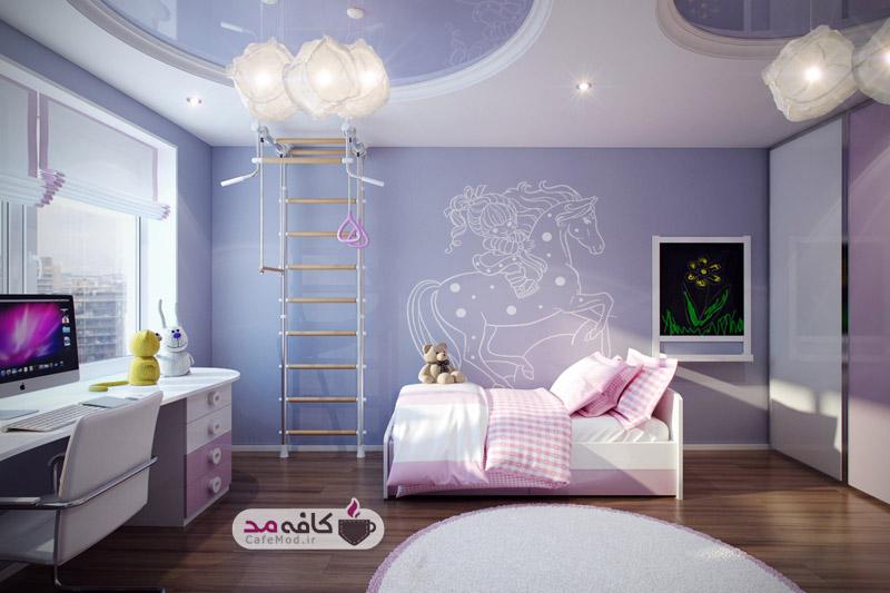 طراحی سقف اتاق خواب کودک