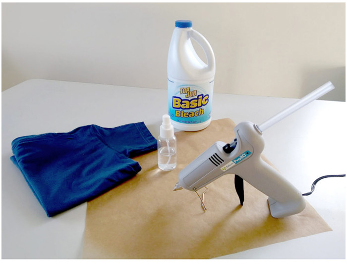آموزش تغییر تیشرت ساده با چسب حرارتی