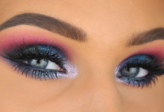 فیلم آموزش آرایش چشم ترکیب رنگ های آبی