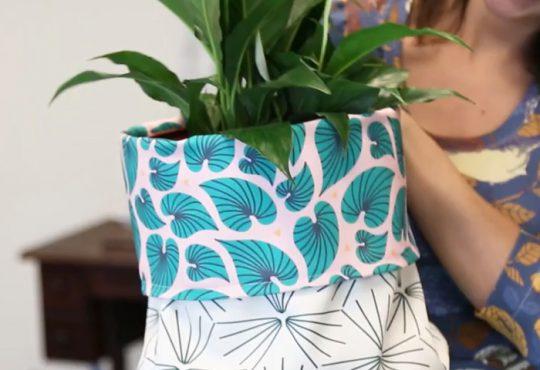 فیلم آموزش دوخت کیف نگهدارنده گلدان