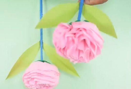 فیلم آموزش گلسازی با دستمال کاغذی