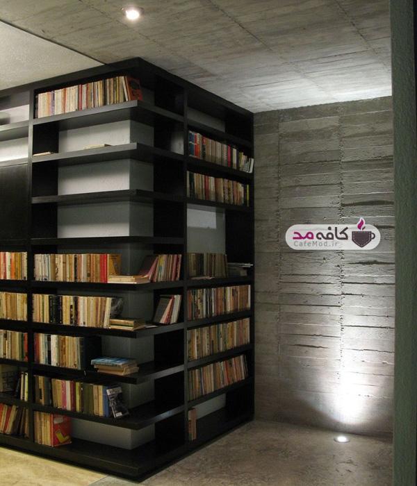 کتابخانه خانگی در دکوراسیون
