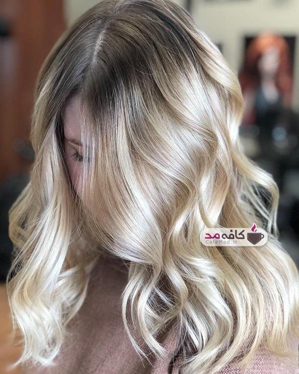 مدل رنگ و لایت مو