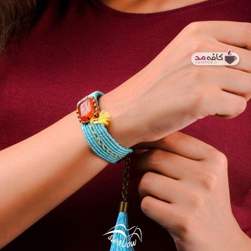 مدل دستبند مکرومه بافی