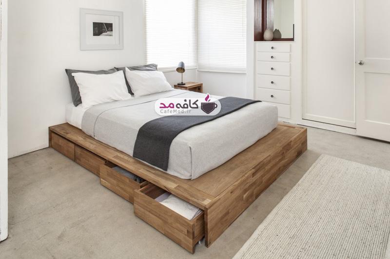 تخت خواب کشودار