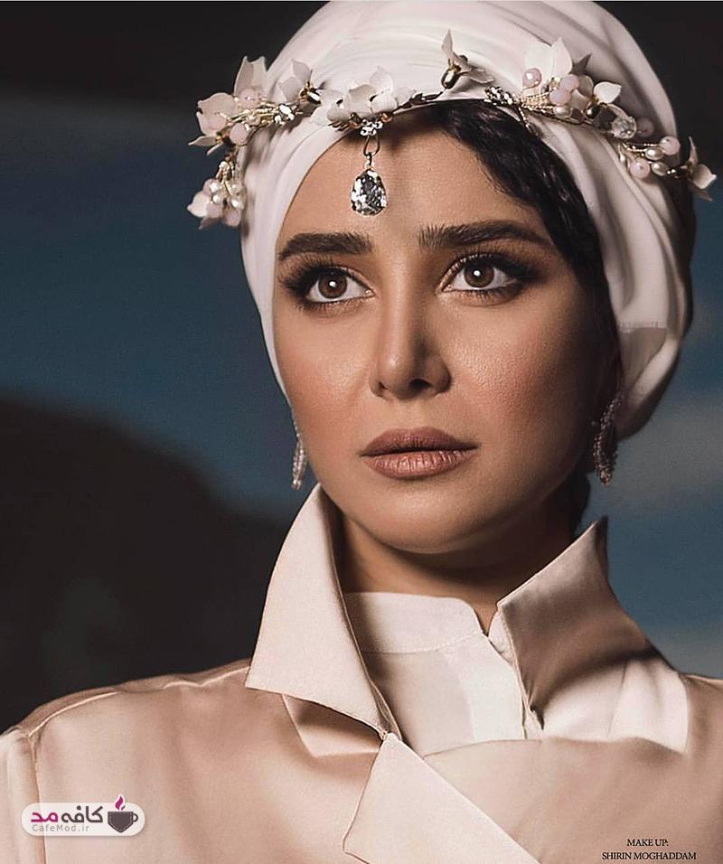 الناز حبیبی مدل تبلیغاتی یک سالن زیبایی شد