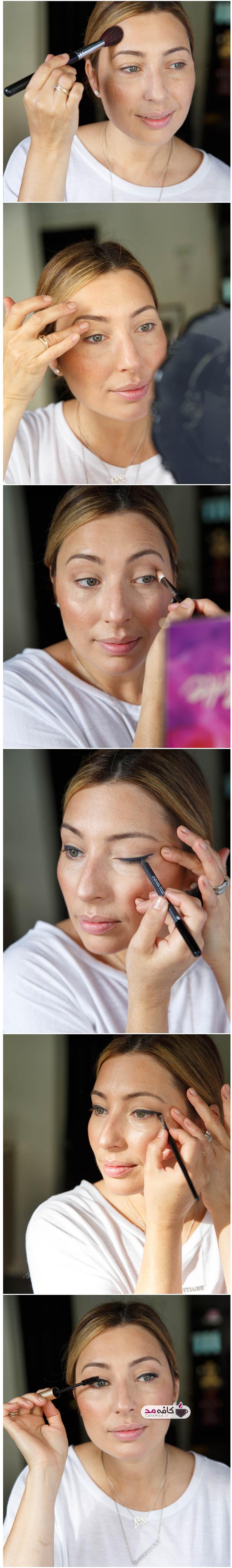 آموزش آرایش ساده صورت با رژ قرمز