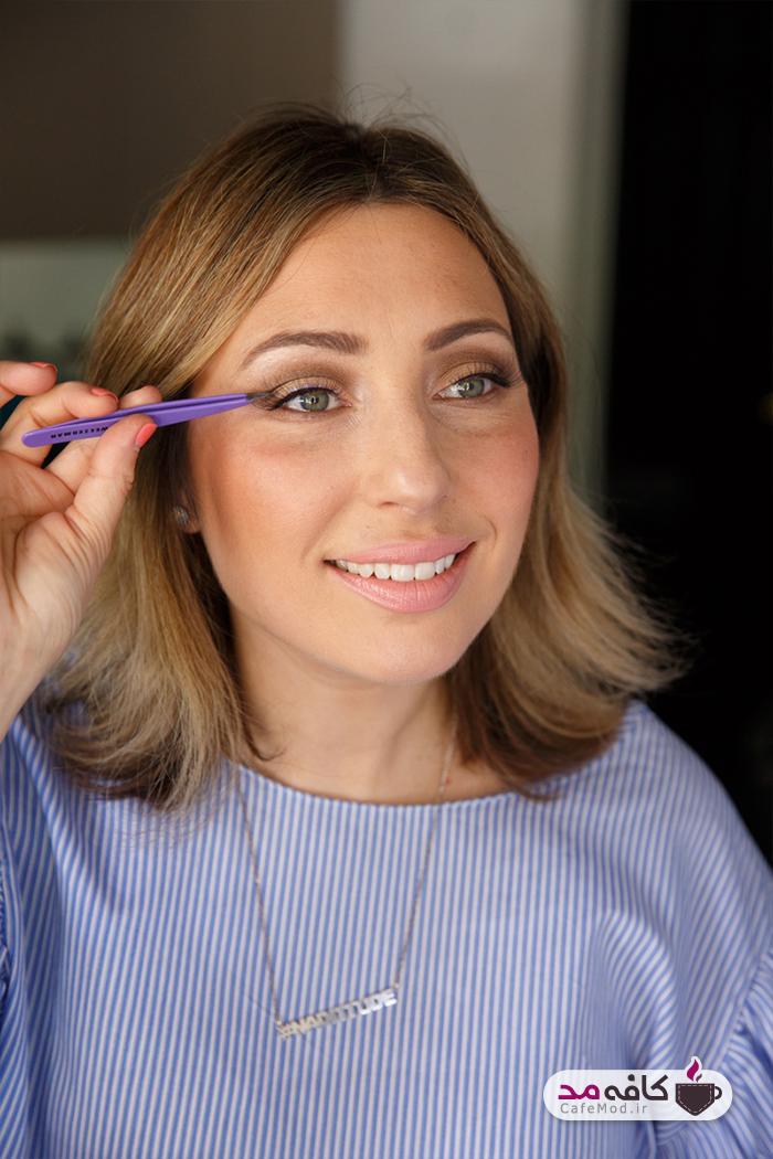 آموزش آرایش چشم با ترکیب رنگ های قهوه ای