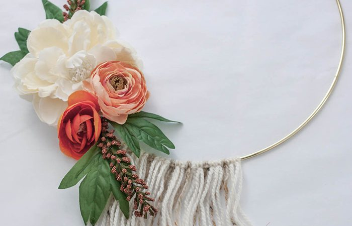 آموزش تصویری آویز حلقه ای با گل