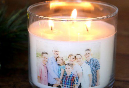 آموزش عکس دار کردن جا شمعی شیشه ای
