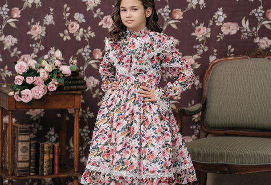 مدل لباس گل گلی دخترانه 2018