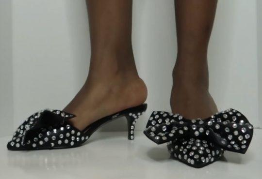 فیلم آموزش تزیین کفش با روبان نگینی