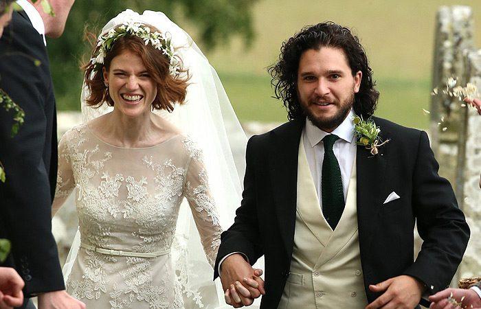 لباس عروس رز لزلی Rose Leslie بازیگر Game of Thrones