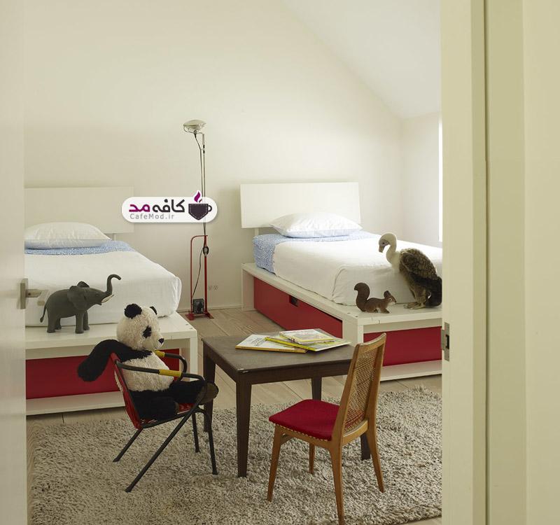 دکوراسیون اتاق خواب دو قلو ها