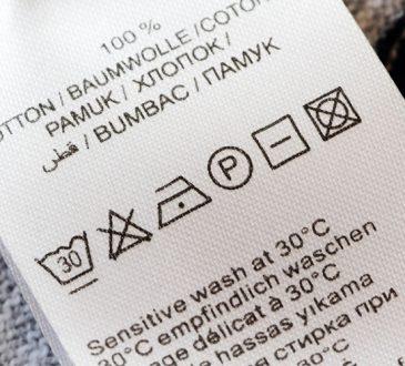 نشانههای درج شده روی برچسب مراقبتی لباس