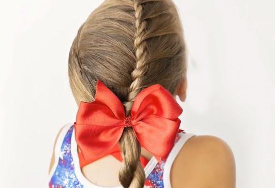 فیلم آموزش بافت موی دخترانه ساده و زیبا