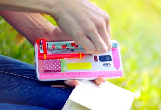 فیلم آموزش جامدادی با کاور موبایل