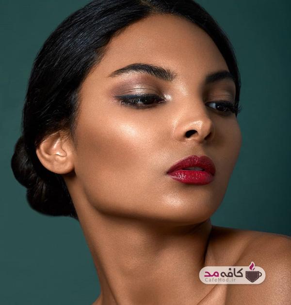 مدل آرایش مهمانی برای صورت
