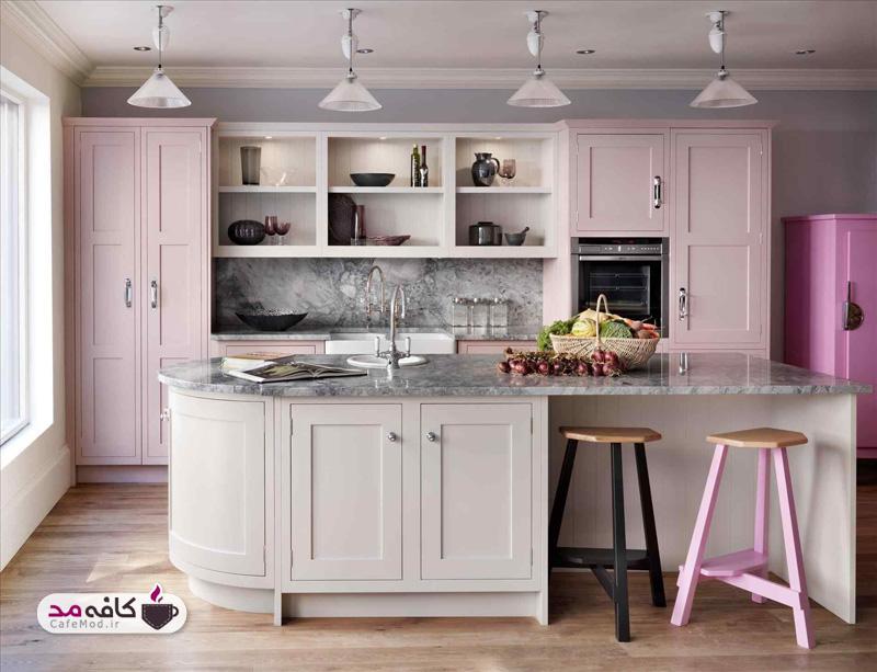 رنگ صورتی در دکوراسیون آشپزخانه