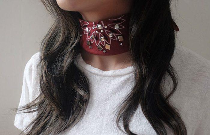 آموزش تزیین دستمال گردن