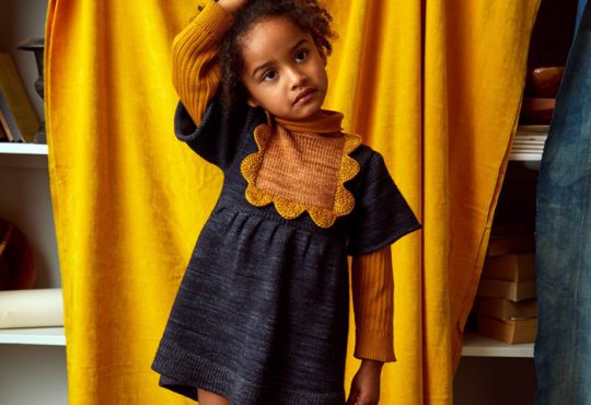 مدل لباس بافت دخترانه پاییزه