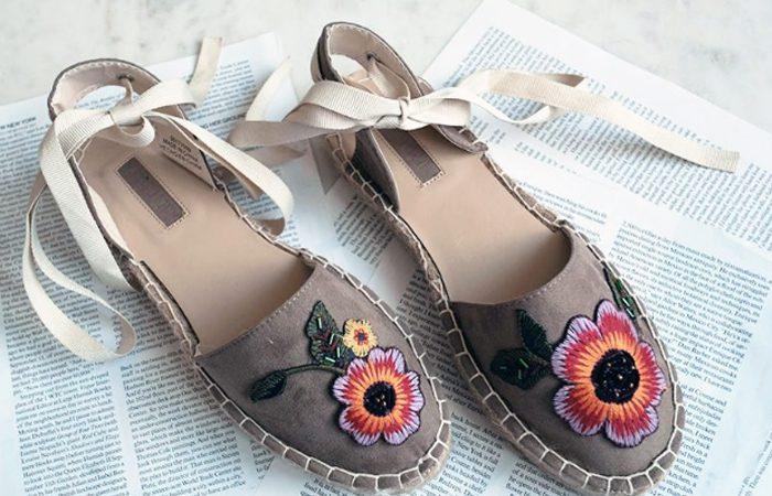 آموزش تصویری تغییر کفش با تکه های گل