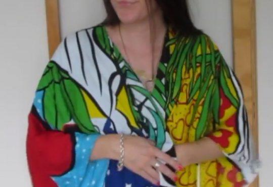 فیلم آموزش دوخت کیمونو با روسری