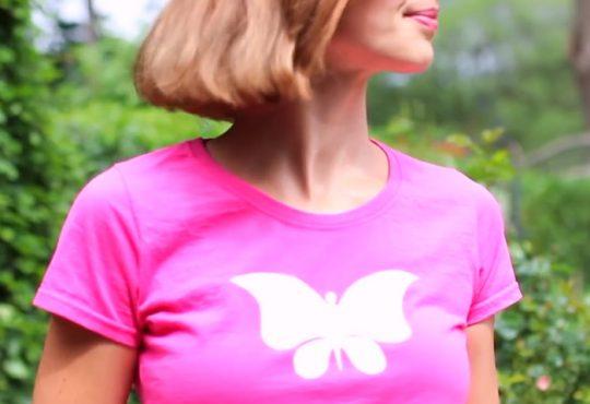 آموزش طرح پروانه روی تیشرت ساده
