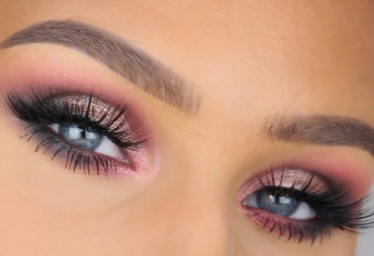فیلم آموزش آرایش چشم ترکیب رنگ ارکیده ای