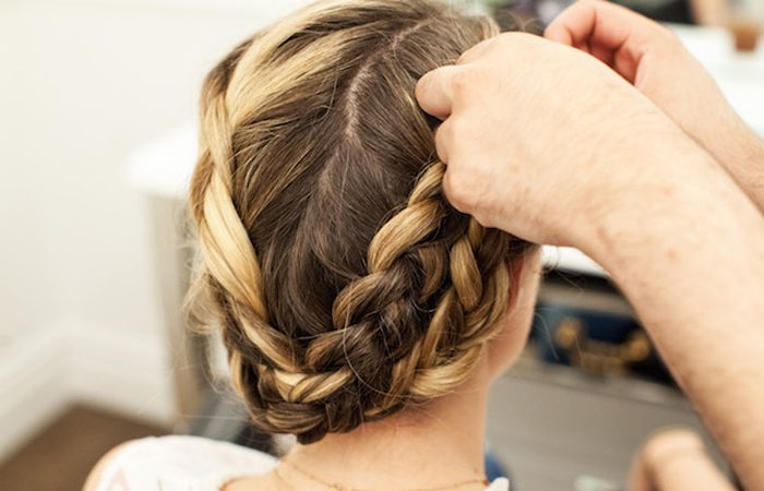 آموزش بافت موی بلند دخترانه در منزل