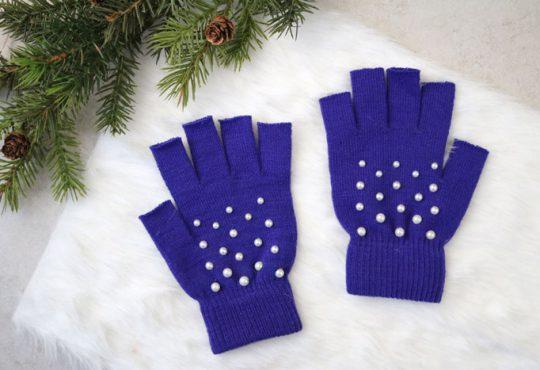 ایده دستکش های مرواریدی