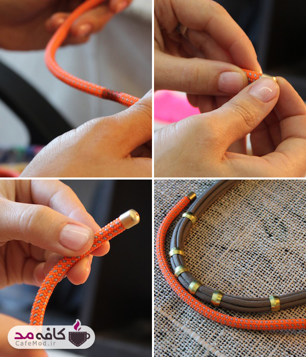 آموزش تصویری ساخت گردنبند تسل