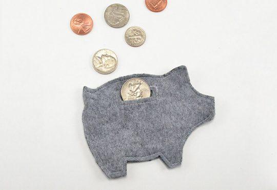 کیف پول ساده نمدی
