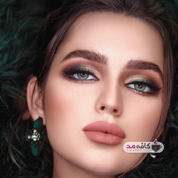 مدل آرایش با رنگهای خاص