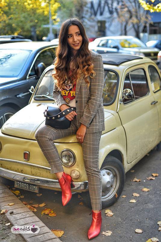 لباسهای چهارخانه زنانه برای فصل پاییز